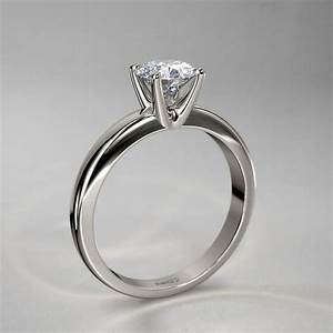 romantic solitaire diamond ring in 14k white gold With romantic wedding rings