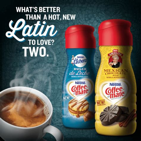 Coffee mate's new and returning fall and holiday flavors will be in stores nationwide from september through the end of the holiday season. Coffee-Mate's Push to Promote 'Steamy, New Latin Flavors' Gets It All Wrong