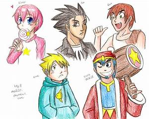 Kirby characters humanized by medli20 on DeviantArt