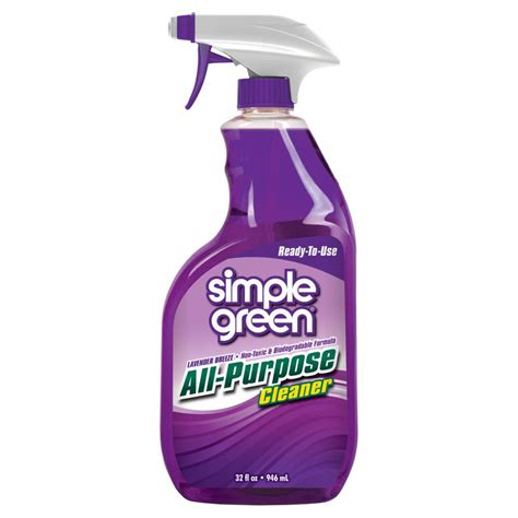 all purpose cleaner simple green 32 oz lavender scent ready to use all