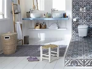 Carreaux De Ciment Adhesif Sol : deux styles pour un m me sol elle d coration ~ Premium-room.com Idées de Décoration