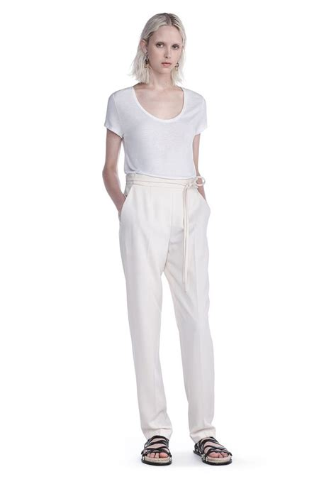 drape trousers drape poly twill waist tie trousers