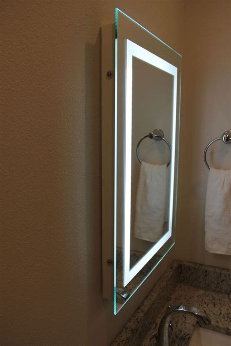 Small Illuminated Bathroom Mirrors by Led Bordered Illuminated Mirror In 2019 I