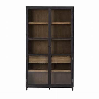 Cabinet Glass Shelves Doors Oak Shelf Bookcase