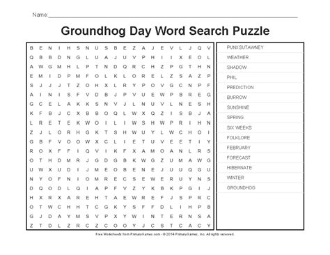 groundhog day worksheets groundhog day word search puzzle primarygames play   games