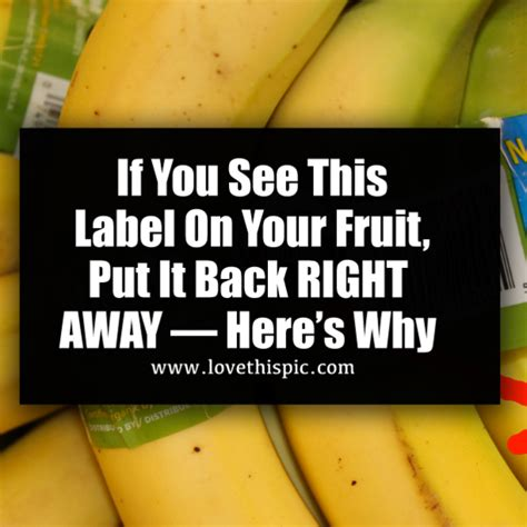 why would you put your house in a trust if you see this label on your fruit put it back right