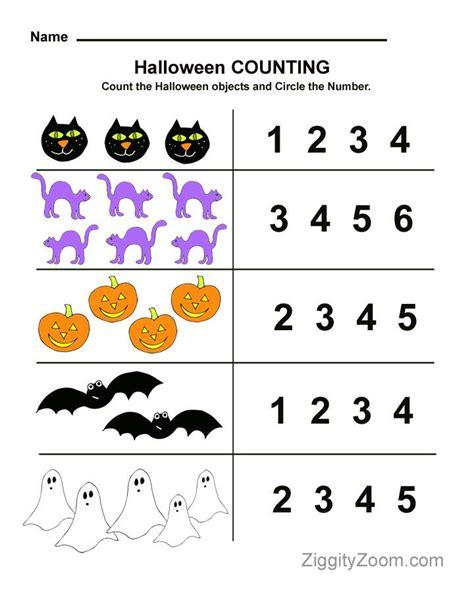 halloween preschool worksheet  counting practice
