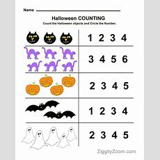 Halloween Preschool Worksheet For Counting Practice  Tot School [homeschool] Pinterest