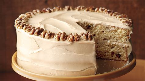 maple walnut cake  brown sugar frosting
