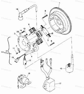 Polaris Atv 1988 Oem Parts Diagram For Magneto Assembly