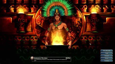 civilization  leader montezuma   aztecs youtube