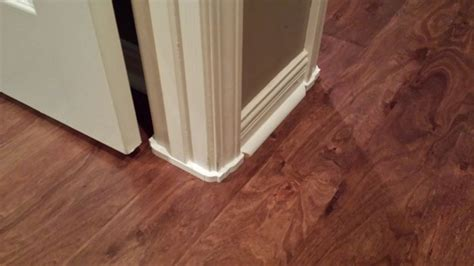 laminate flooring door jamb after we removed our carpet and installed our laminate floors it wasn long before we noticed