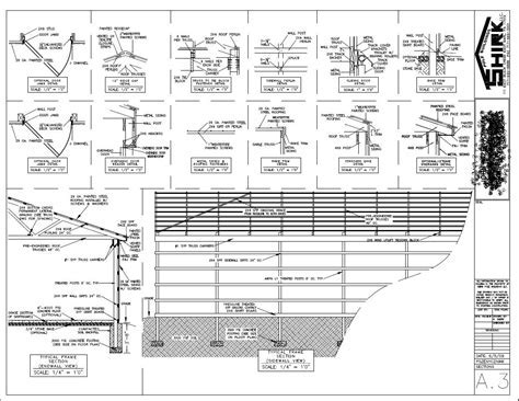 House Plan: Pole Barn Blueprints   30x50 Metal Building