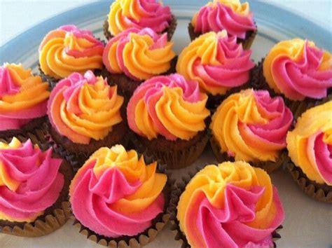 Multi-Coloured Icing Cupcakes