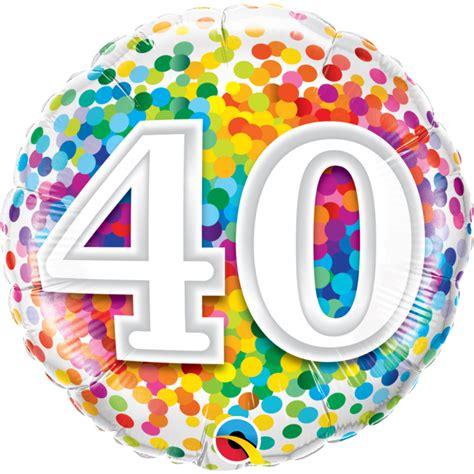 photo 40 ans ballon anniversaire 40 ans rainbow confetti 45 cm