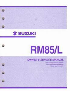 2003 Suzuki Rm85 Motorcycle Owners Service Manual