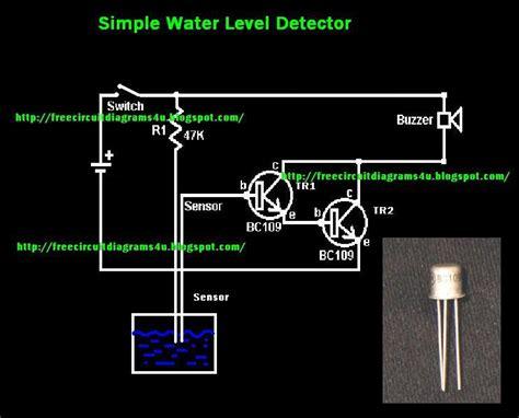 Free Circuit Diagrams Simple Water Level Detector