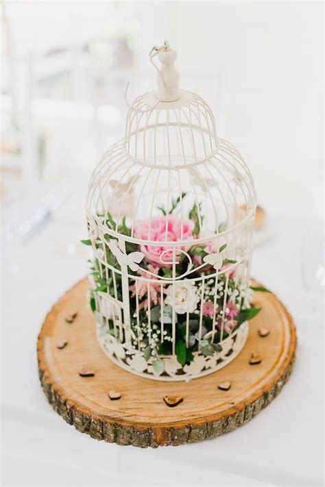 birdcage centrepiece fresh country pink green wedding with tweed bow ties pink green wedding green weddings and