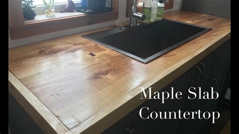 making kitchen cabinets part  bookmatched maple slab