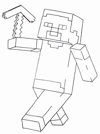 Minecraft Coloring Printable Steve Pages Sheets Dog