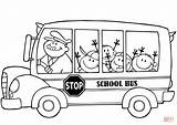 Coloring Bus Pages Children Happy Printable Drawing Puzzle sketch template