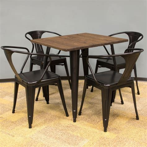 folding wood table home depot cosco 5 piece folding table and chair set in beige mist