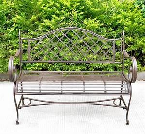Decoration De Jardin En Fer Forgé Animaux : banc en fer forg couleur marron ~ Teatrodelosmanantiales.com Idées de Décoration