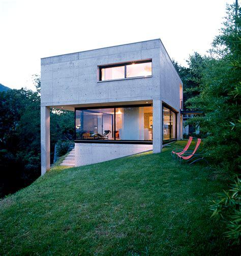 Bilder Moderne Häuser Am Hang by Kleiner Betonkubus Am Hang Sch 214 Ner Wohnen