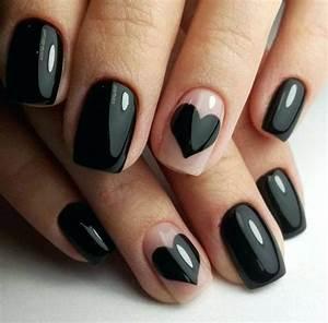 Ongles En Gel Rose : archaicawful ongle en gel noir ongles en gel noir blanc argent ~ Melissatoandfro.com Idées de Décoration