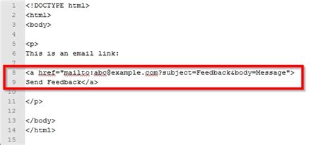 How To Create An Email Link Using Html Programming