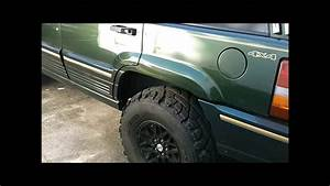 95 Jeep Grand Cherokee On 33s Aka  Green Bastard
