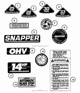 Snapper 301016be 30 U0026quot  10 Hp Rear Engine Rider Series 16 Parts Diagram For Decals  Series 16   Part 1
