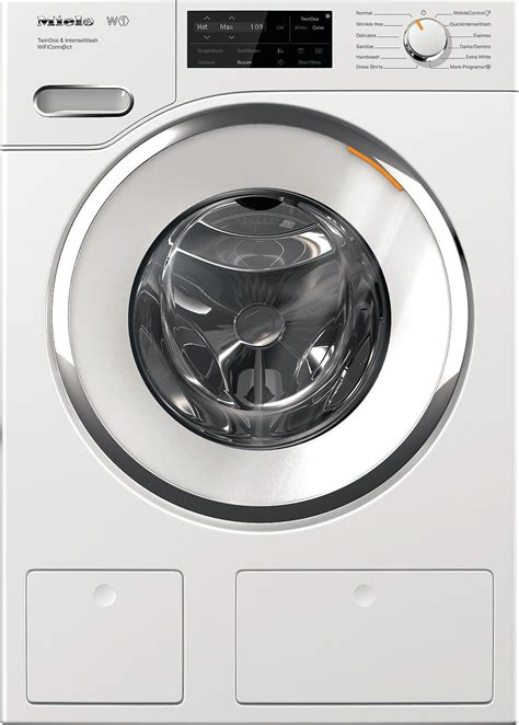 miele  white front load washer whusa