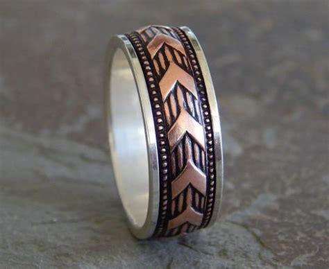 Sargent Silver & Copper Men's Wedding Band // Unique