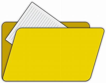 Folder Clipart Clip Yellow Transparent Documents Background