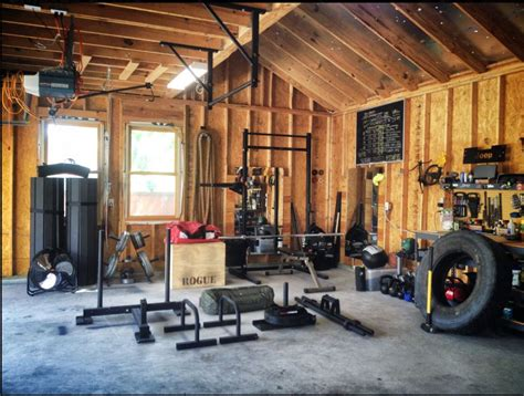 garage crossfit gym setup gyms rogue fitness timber outhouse build awesome theathleticbuild calisthenics want equipment stuff own drool personal exercise
