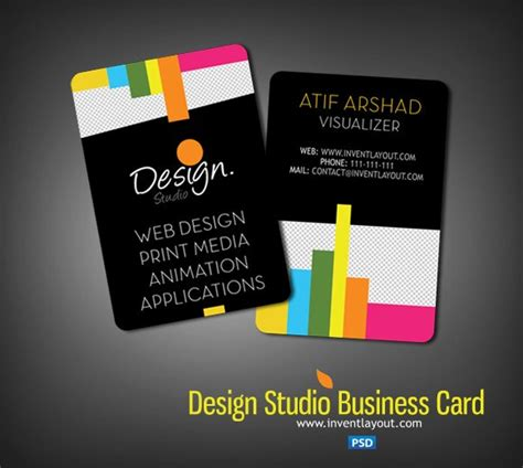 design studio business card psd inventlayout