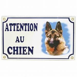 Panneau Attention Au Chien : plaque attention au chien berger allemand pour chien ~ Farleysfitness.com Idées de Décoration