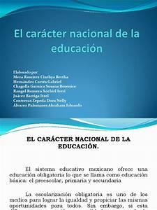 Caracter, Nacional, De, La, Educaci, U00f2n
