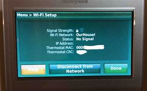 Change Wifi Network On Honeywell Rth9580wf T