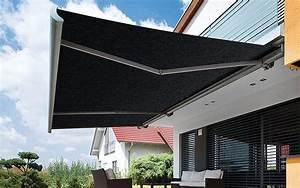 aussenliegender sonnenschutz hagenlocher raumgestaltung With markise balkon mit x wave tapete