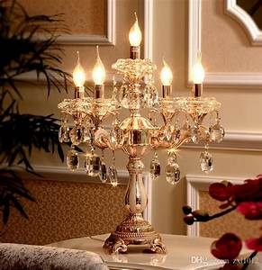 paris led wedding candelabra restaurant crystal table lamp With kitchen colors with white cabinets with gold unity candle holder