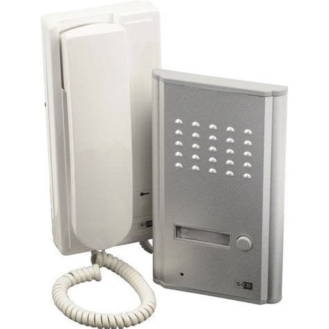 interphone de portail interphone filaire scs sentinel 3208d leroy merlin