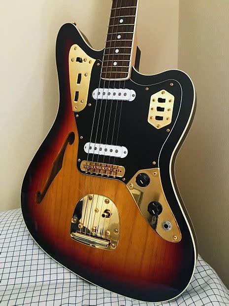 Fender Thinline Jaguar by Fender Jaguar Thinline 50th Anniversary Edition Reverb