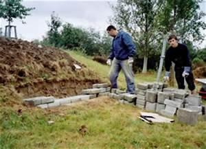 Trockenmauer Bauen Ohne Fundament : bau einer trockenmauer ~ Lizthompson.info Haus und Dekorationen