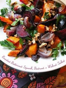 Roasted Butternut Squash, Beetroot & Walnut Salad My
