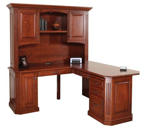 Desk With Hutch by Buckingham Corner Desk With Hutch Top Amish Oak