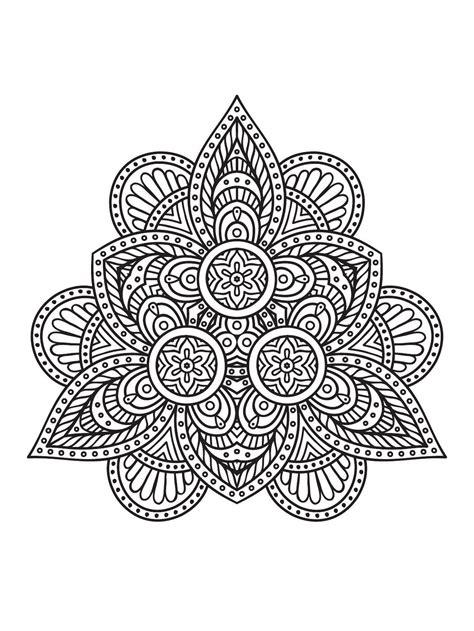 mindfulness mandalas  coloring pages mandala