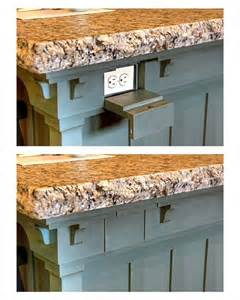 kitchen island outlets keep electrical outlets out of sight on your kitchen island with a flip drawer