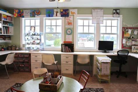 homeschool desk ideas playroom tour homeschool version the pleated poppy